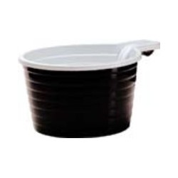 TASSE A CAFE PLASTIQUE MARRON/BLANC 17CL R.706387 16X50
