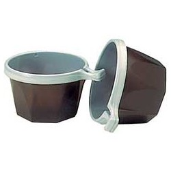 TASSE A CAFE PLASTIQUE MARRON/BLANC 17CL R.706376 10X100