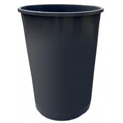 CORBEILLE PAPIER 45L PLASTIQUE RONDE PLEINE GRISE R.125/45G