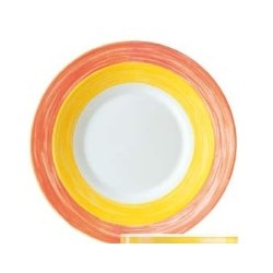 ASSIETTE PLATE JAUNE BRUSH DIAMETRE 155MM R.552779 X24
