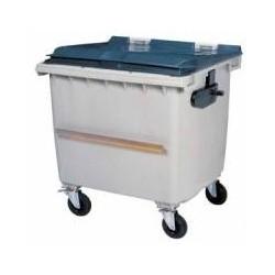CONTAINER 1000L GRIS/GRIS 1370X1310X1050 AVEC BARRE VENTRALE R.56665