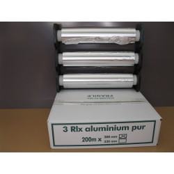 FILM ALU MENAGER 30CMX200M 11MY RECHARGE SOUS EMBOUTS X3