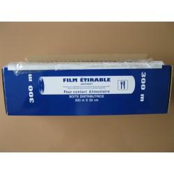 FILM ETIRABLE MENAGER 30CMX300M BOITE DISTRIBUTRICE X6