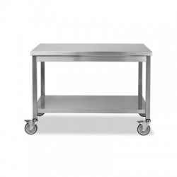 TABLE CENTRALE INOX MOBILE 1800X700X850MM R.HTC18